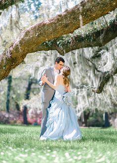 Bride and Groom Dancing under the trees. South Carolina Wedding. Unique Wedding Ideas - Unique Weddings | Wedding Planning, Ideas & Etiquette Blossoms Events. Pasha Belman Photography. www.pashabelman.com - Charleston wedding photography at Magnolia Plantation