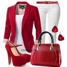 Anna Things and Thoughts: Red Outfit http://www.pinterest.com/ahaishopping/