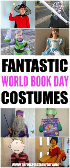 Fancy dress ideas for kids. World Book costumes for school