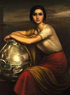 Una docena de mujeres morenas pintadas por Julio Romero de Torres