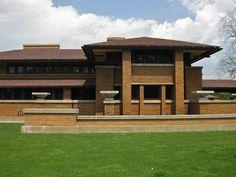 Darwin Martin Complex, Buffalo, New York. 1903-06. Frank Lloyd Wright. Prairie Style