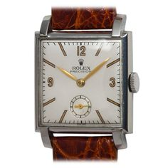 Vintage Watches Collection : Rolex Stainless Steel Square Dress Wristwatch - Watches Topia - Watches: Best Lists, Trends & the Latest Styles Fine Watches, Cool Watches, Watches For Men, Wrist Watches, Armani Watches, Luxury Watches, Vintage Rolex, Vintage Watches, Seiko Watches