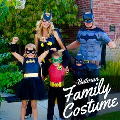 You know what they say: the family that fights crime together, stays together. Team up as Batman, Batwoman, Batgirl & Robin to protect your neighborhood from Joker and his cronies this Halloween!