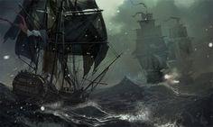 Winter blockade Picture  (2d, ships, fantasy)
