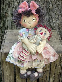 Love this picture!/ CF256+My+Doll's+Dolly+Cloth+Doll+Sewing+by+catandthefiddle+on+Etsy,+$9.00