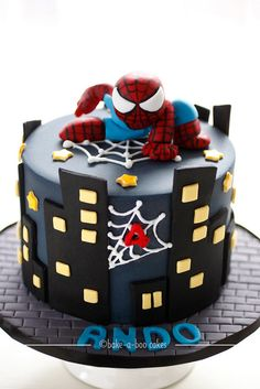 Spiderman theme cake by Bake-a-boo Cakes NZ, via Flickr