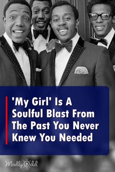 The Temptations' 'My Girl' Is A Soulful Blast From The Past You Never Knew You Needed . One of the first songs my garage band in the late learned. Soul Songs, Soul Music, Music Songs, My Music, Music Videos, Indie Music, Country Music Singers, Motown, Kinds Of Music