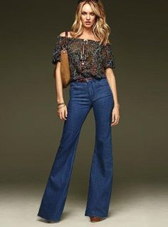 The true blue 70s classic gets a sexy reinvention. Meet the High-waist Flare Jean. Designed to sit high on the waist for an hourglass shape, it s slim through the hip and thigh, then flares ...