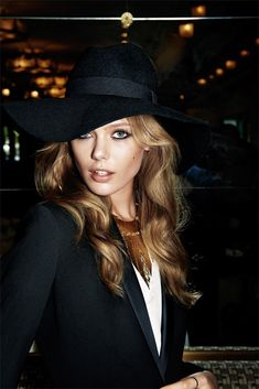 Vogue Paris for H & M edit the Christmas party, hat, necklace, jacket