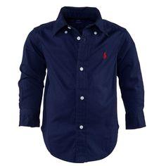 Ralph Lauren Navy Lightweight Twill Shirt | AlexandAlexa
