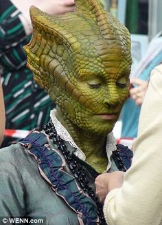 Madame Vastra makes her return! So lovely :) I can't wait till new Who! But I think she might be going to One of the ponds funeral based on Rivers outfit I just saw.