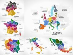 Maps infographic collection pack with Europe, Germany, France, Poland, Italy and Mexico puzzle illustrations Royalty Free Images, Poland, Maps, Infographic, Puzzle, Mexico, Germany, Clip Art, Europe
