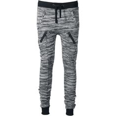a9fe6525eaeb63 Ladies Fitted Melange Zip Sweatpants by Urban Classics Jogginghose