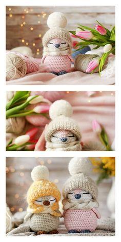 Crochet Animal Patterns, Stuffed Animal Patterns, Crochet Patterns Amigurumi, Crochet Dolls, Knitting Patterns, Bear Patterns, Crochet Diy, Crochet Crafts, Yarn Crafts