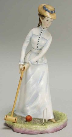 "Royal Worcester VICTORIAN LADIES ""Bridget"" Figurine."
