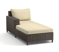 Torrey Sectional Right-Arm, Left-Arm Chaise Cushion Slipcover, Sunbrella(R) Contrast Piped, Linen Sand