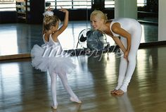 Look 1: Mother & daughter do a Ballet lesson