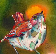 Bird Artwork by artist Travis Bruce Black♥♥ love his work! Bird Artwork, Cool Artwork, Watercolor Paintings, Bird Paintings, Watercolours, Bird Quilt, Illustrations, Bird Feathers, Beautiful Birds