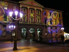 les illuminations de la façade de la mairie d'annecy,  Photo du 4-12-09