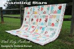 Charming Stars Quilt « Moda Bake Shop.  Good tut for making star blocks and entire quilt.