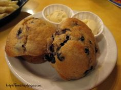 Souplantation blueberry muffin recipe!!
