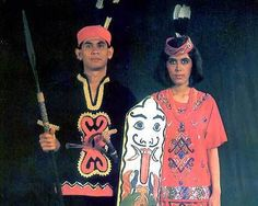 Indonesian Traditional Costumes from Central Kalimantan