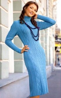 Dress with Cable Pattern