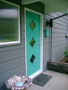 """@Madeline Antle Dean...your door is fashionable! The """"Piedmont"""" in turquoise."""
