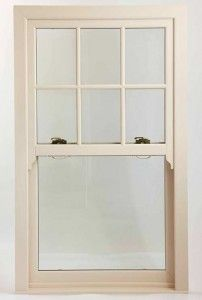 uPVC sash window with georgian bars in white uPVC #sashwindows