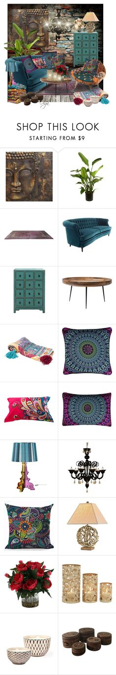 """""""Bohemian and Cosy"""" by olga1402 on Polyvore featuring interior, interiors, interior design, home, home decor, interior decorating, Sarreid, mater, Karma Living and Kartell"""