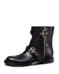 091608ad6d3 Leather Biker Boot, Black by Gucci at Neiman Marcus. Mens Designer Shoes,  Mens