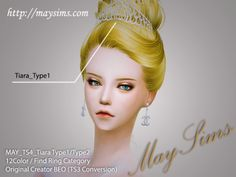 Mayims: 심즈4 아이템(Sims 4 Items) - May_TS4_Tiara Type 1 / 2