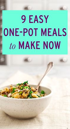 9 easy one-pot meals to make for dinner