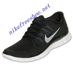 new style 72855 888c4 Nike Free 5.0 Womens Black Dark Grey White Metallic Silver 580591 002 Nike  Heels, Sneakers