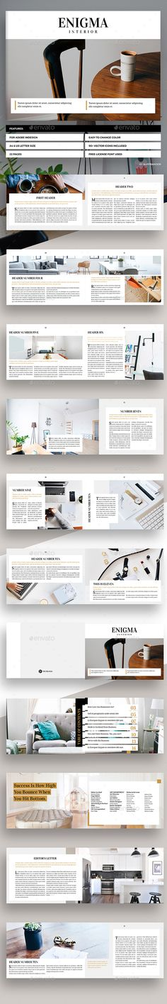 Enigma - Landscape Magazine Template InDesign INDD - 22 Pages