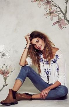 Image result for boho sweater jeans outfit