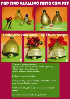 Christmas craft ideas: Christmas bell made of plastic bottle