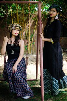 Our take on The Bohemian Look! #Bohemian #Zoyashi #HandmadeWithLove #Cotton #Kurtas #Kalamkari #Bandhani #Palazoos #MadeInIndia