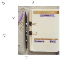 Some Bullet Journal inspiration and layout ideas. This time: Daily Log. #bulletjournal #ideas #layout #inspiration