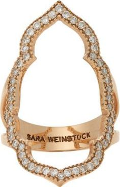 Sara Weinstock Diamond & Rose Gold Taj Ring