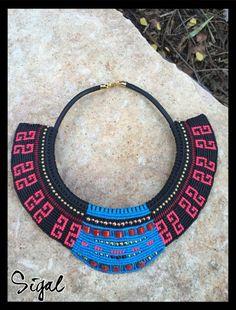 Micro macrame tribal necklace #nefertiti