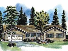 Eplans Country House Plan - Spacious Country Kitchen - 1818 Square Feet and 3 Bedrooms from Eplans - House Plan Code HWEPL55653