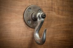 Hey, I found this really awesome Etsy listing at https://www.etsy.com/listing/246286608/industrial-coat-hook-wall-hook-robe-hook