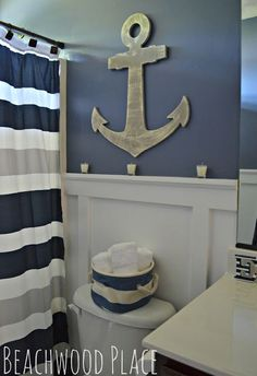 A Nautical Bathroom Retreat!
