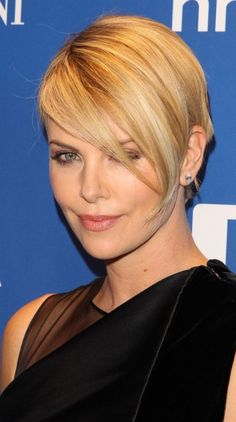 """charlize theron short hair 2014 - LOVE this little """"longer"""" pixie look"""