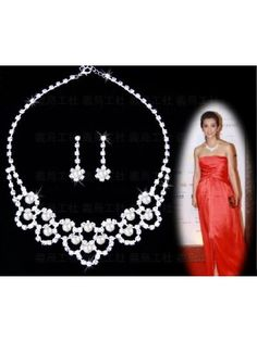 Gorgeous Alloy with Clear Crystal Wedding Bridal Jewelry Set JAY0002