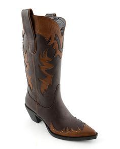 Women's Faux Leather Cisco Boot - Brown