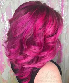 Pink purple magenta balayage