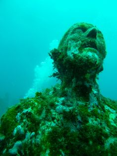 Cancun Underwater Museum Project - The sculptures are the imagination and work of Artist Jason Taylor, who painstakingly sculpted a collection of up to 500 statues which are submerged off the coast of Cancun, Mexico.  The idea behind the project is brilliant!  With over 750,000 visitors each year, Cancun had immense pressure on its local reef. If the sculptures could lure the divers/water enthusiasts away from the reef and help create a new reef at the same time, then they have done their job.