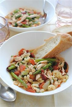 Chicken and Vegetable Minestrone / Bev Cooks